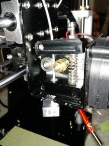 PLA Filament into nozzle